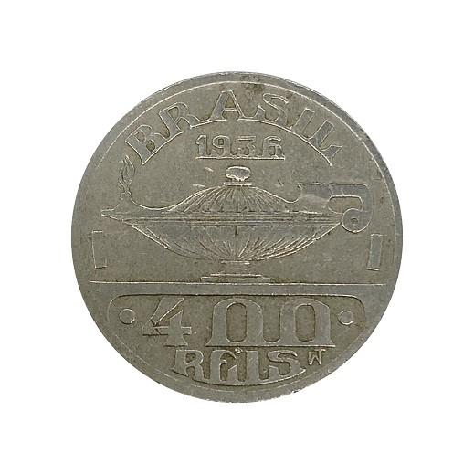 Moeda 400 Reis 1936 Oswaldo Cruz