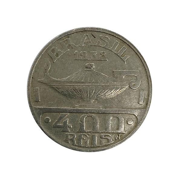 Moeda 400 Reis 1938 Oswaldo Cruz