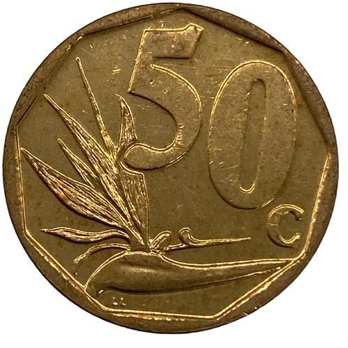 Moeda África do Sul 50 Cêntimos 2012 MBC