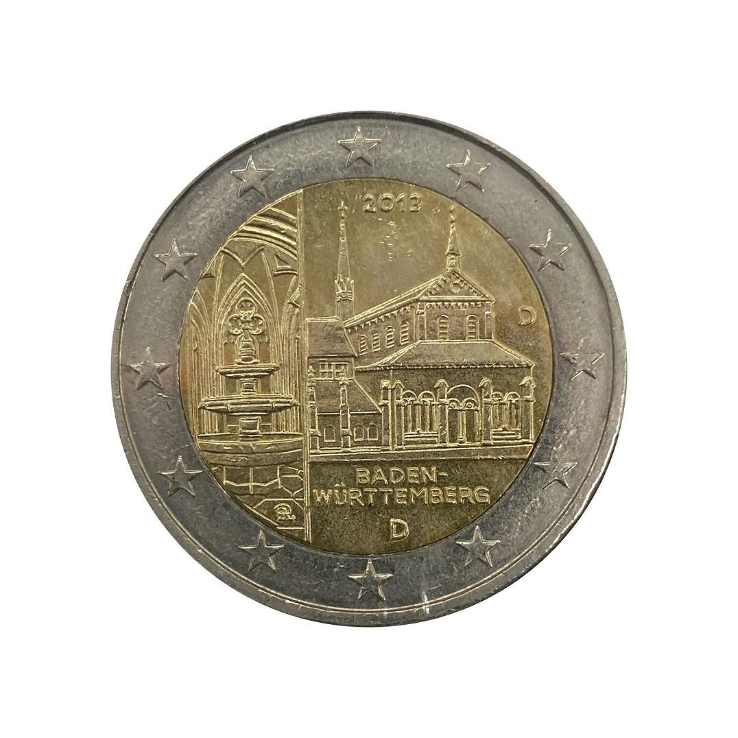 Moeda Alemanha Comemorativa Mosteiro 2 Euros 2013 MBC