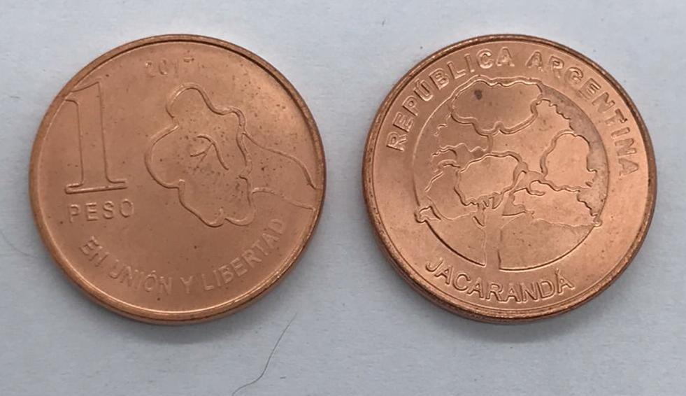 Moeda Argentina 2017 - 1 peso
