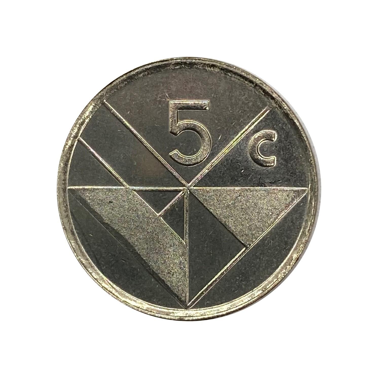 Moeda Aruba 5 Cents 2001 FC