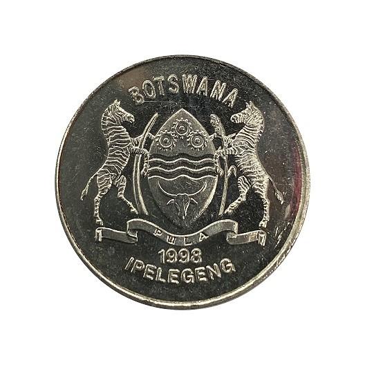 Moeda Botsuana Fauna 50 Thebe 1998 FC