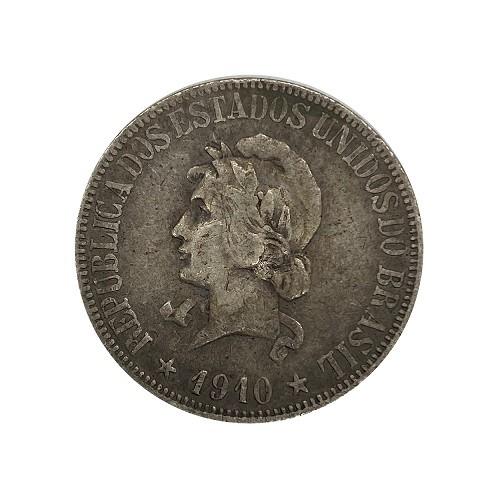 Moeda Brasil 1000 Réis 1910 MBC
