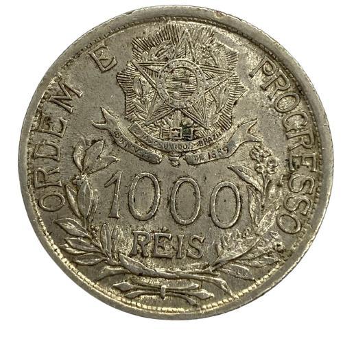 Moeda Brasil 1000 reis 1913 estrelas Ligadas MBC