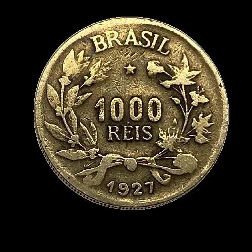 Moeda Brasil 1000 Réis 1927 MBC
