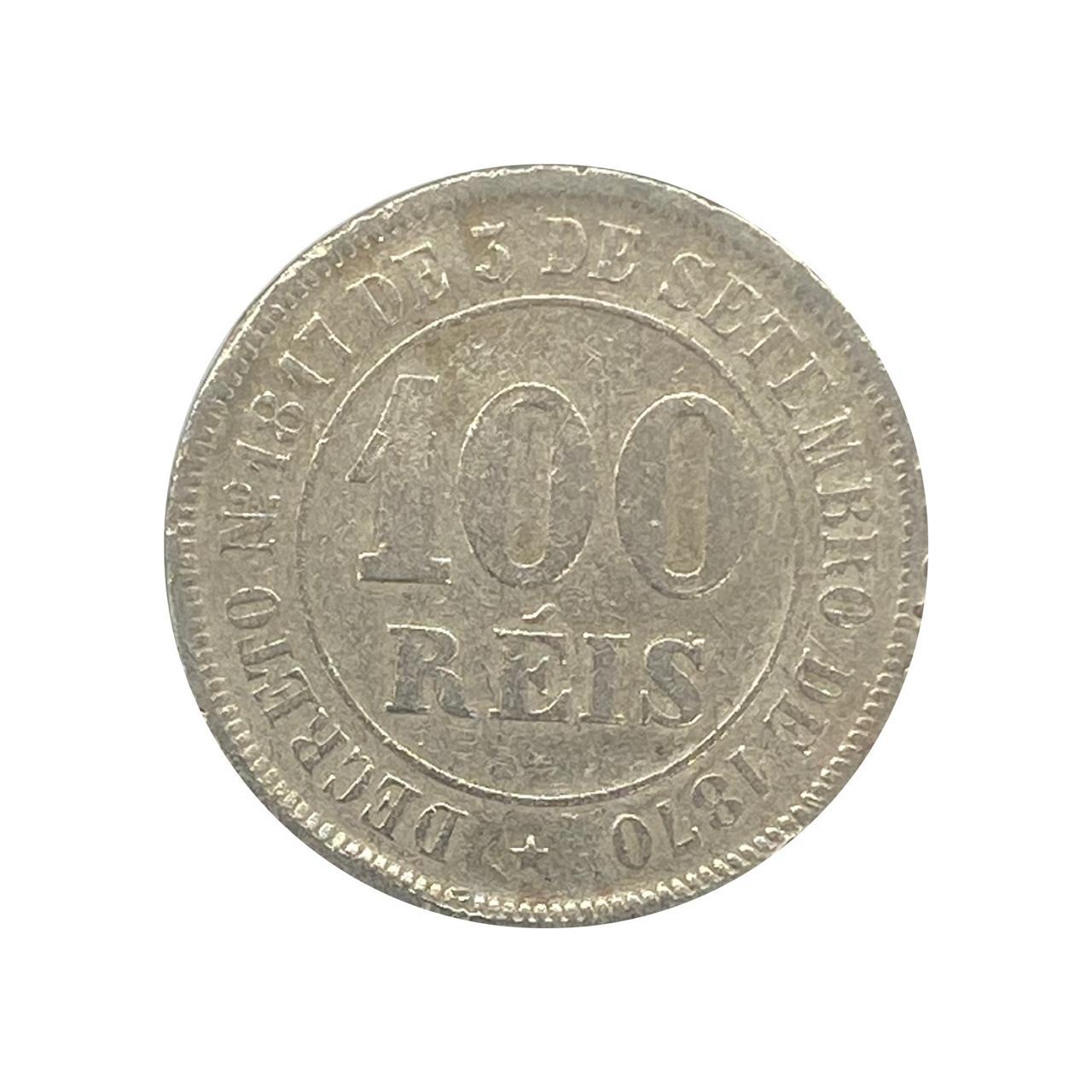 Moeda Brasil 100 Réis 1885 MBC