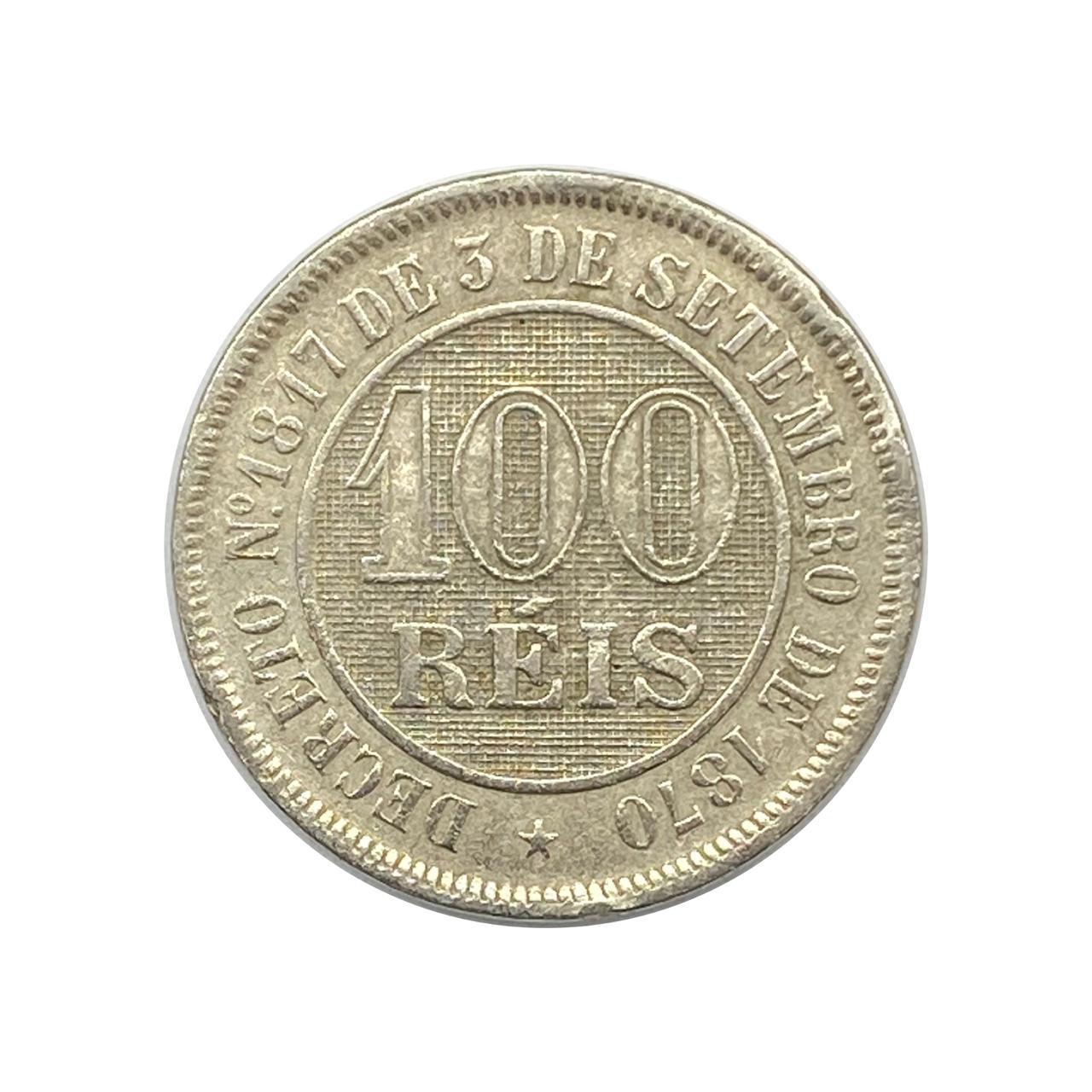 Moeda Brasil 100 Réis 1888 SOB