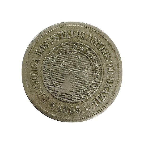 Moeda Brasil 100 Réis 1895 SOB