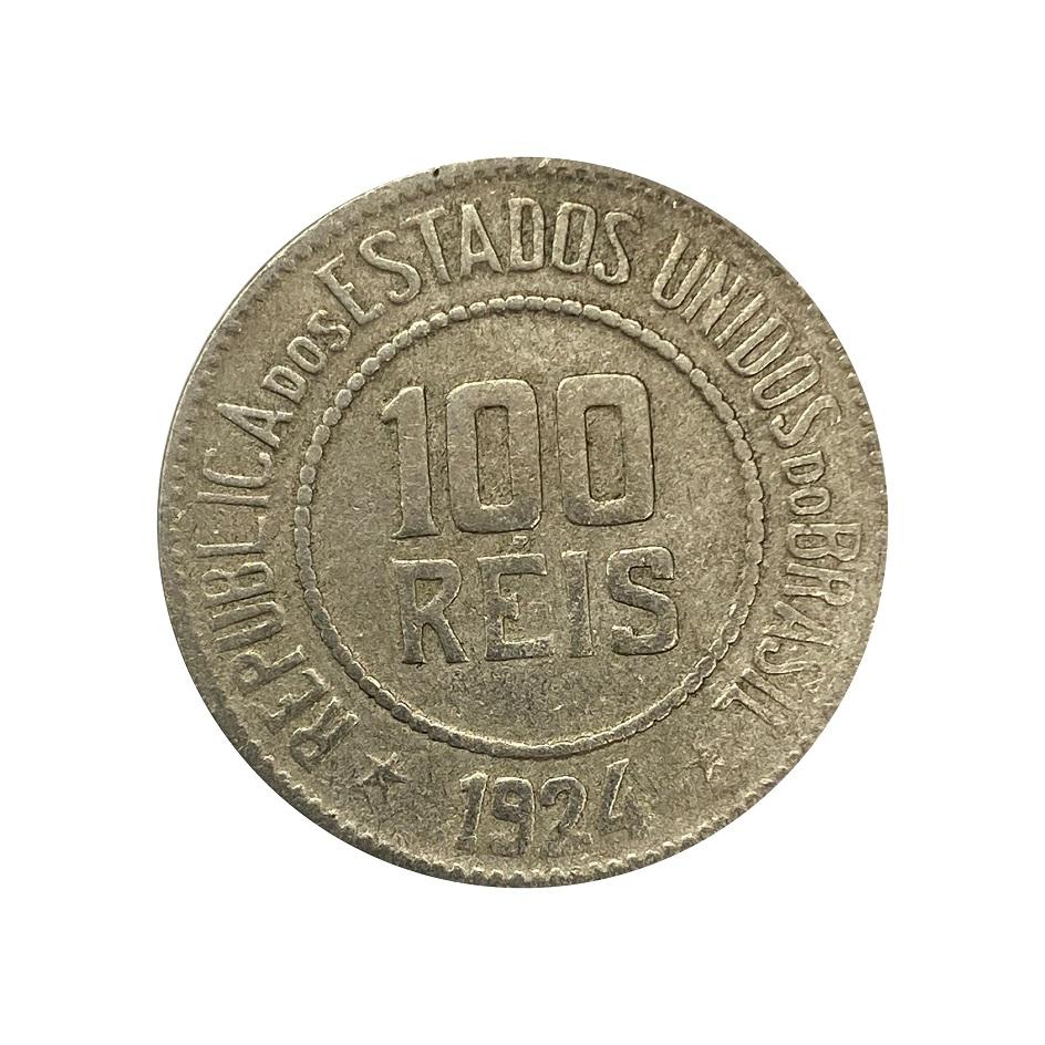 Moeda Brasil 100 Réis 1924 MBC