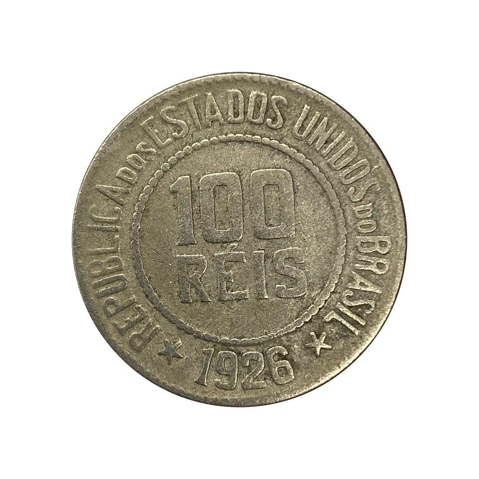 Moeda Brasil 100 Réis 1926 MBC