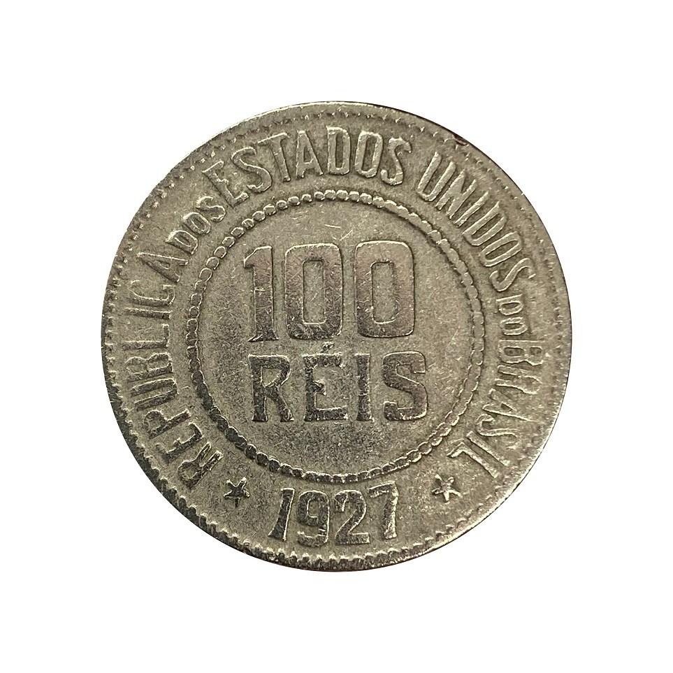 Moeda Brasil 100 Réis 1927 MBC