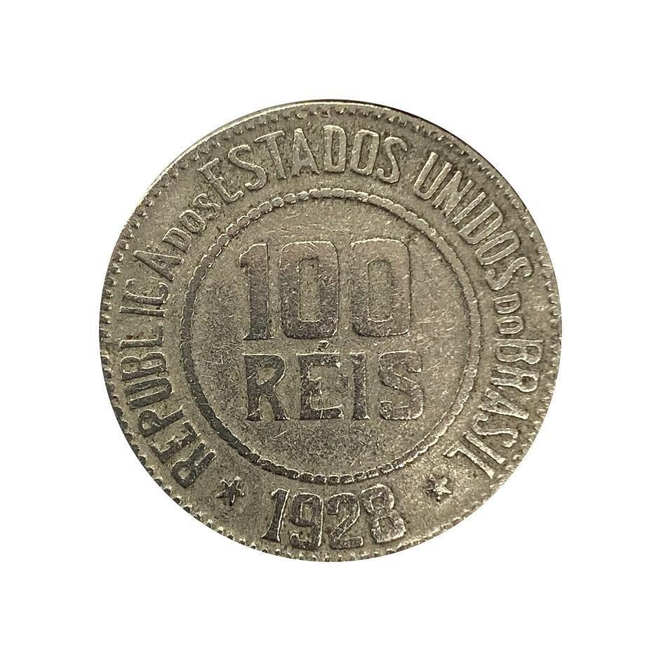 Moeda Brasil 100 Réis 1928 MBC