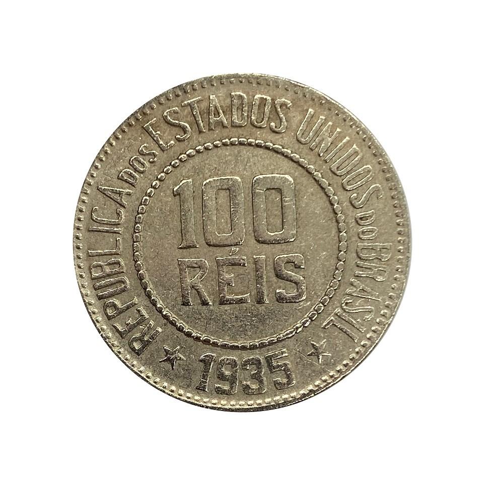 Moeda Brasil 100 Réis 1935 MBC