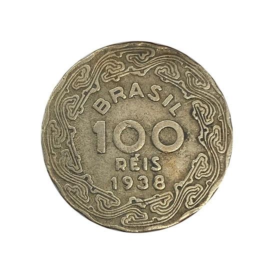 Moeda Brasil 100 Réis 1938 Getúlio Vargas MBC