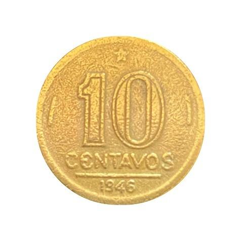 Moeda Brasil 10 Centavos 1946 Getúlio Vargas MBC