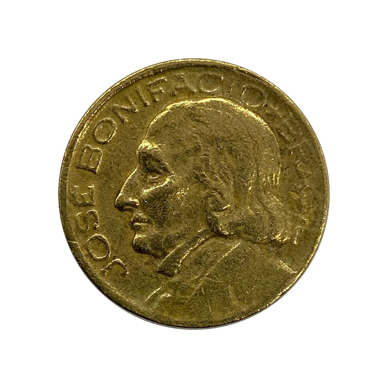 Moeda Brasil 10 Centavos 1949 José Bonifácio MBC