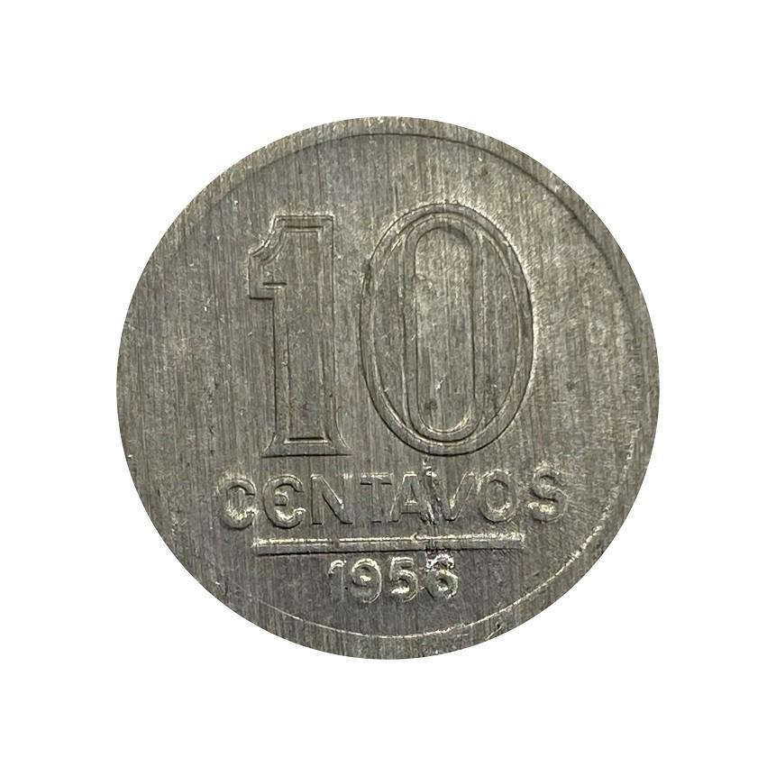 Moeda  Brasil 10 Centavos 1956 - FC