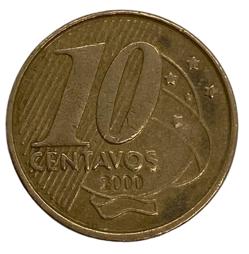 Moeda Brasil 10 centavos 2000 MBC