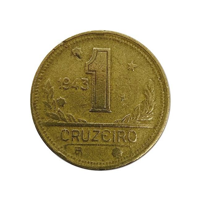 Moeda Brasil 1 Cruzeiro 1943 MBC