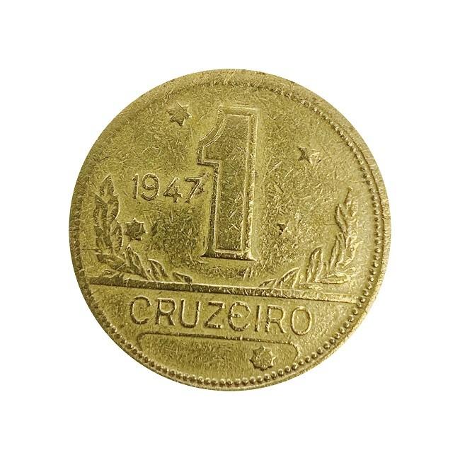 Moeda Brasil 1 Cruzeiro 1947 MBC