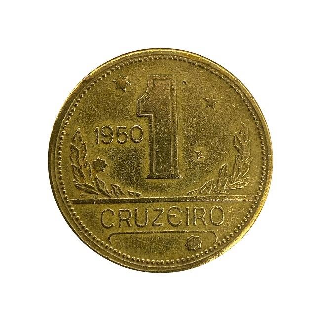 Moeda Brasil 1 Cruzeiro 1950 MBC