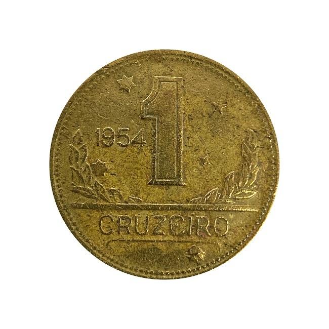 Moeda Brasil 1 Cruzeiro 1954 MBC