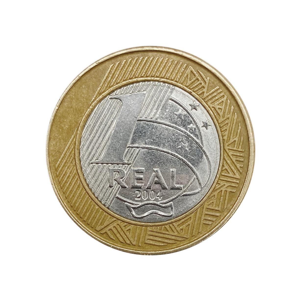 Moeda Brasil 1 Real 2004 MBC