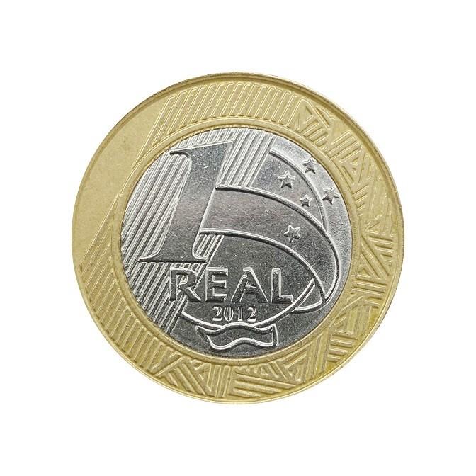 Moeda Brasil 1 Real 2012 MBC