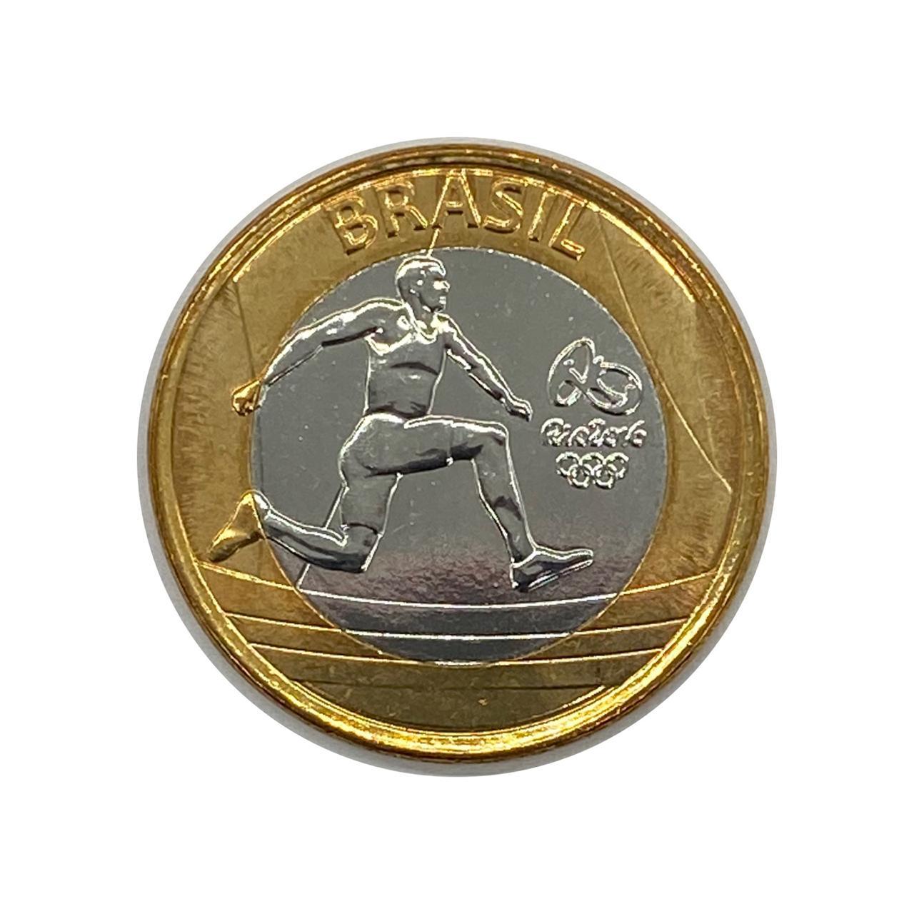 Moeda Brasil 1 Real Atletismo Olímpico 2014 FC