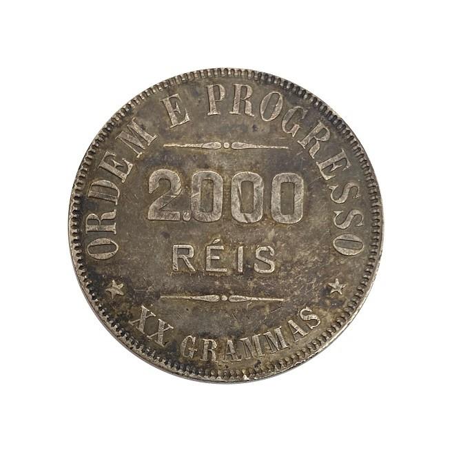 Moeda Brasil 2000 reis 1910 MBC