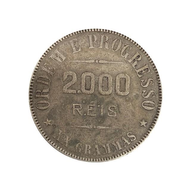 Moeda Brasil 2000 reis 1911 MBC