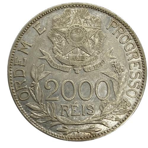 Moeda Brasil 2000 reis 1913 estrelas Ligadas MBC