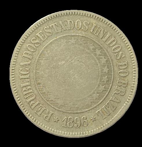 Moeda Brasil 200 Reis 1896