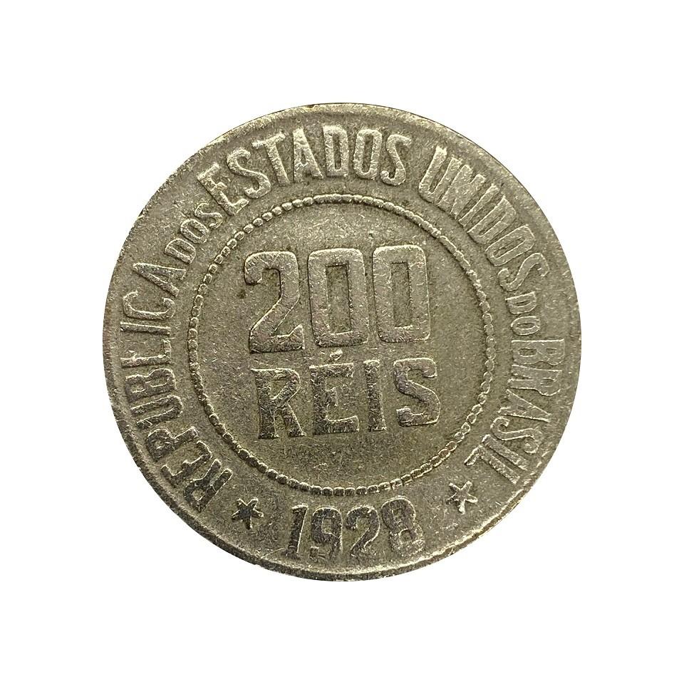 Moeda Brasil 200 Réis 1928 MBC