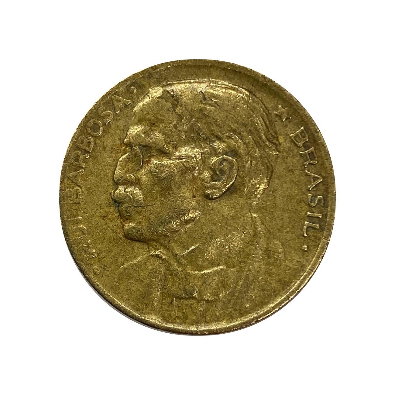 Moeda Brasil 20 Centavos 1953 Ruy Barbosa MBC
