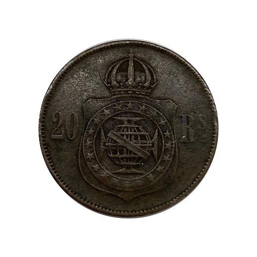 Moeda  Brasil 20 Réis 1869 SOB