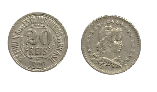 Moeda Brasil 20 Réis 1920 FC