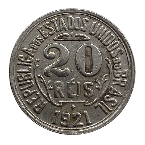 Moeda Brasil 20 Réis 1921 MBC