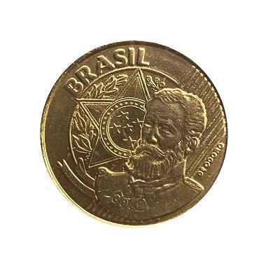 Moeda Brasil 25 Centavos 1998 fc