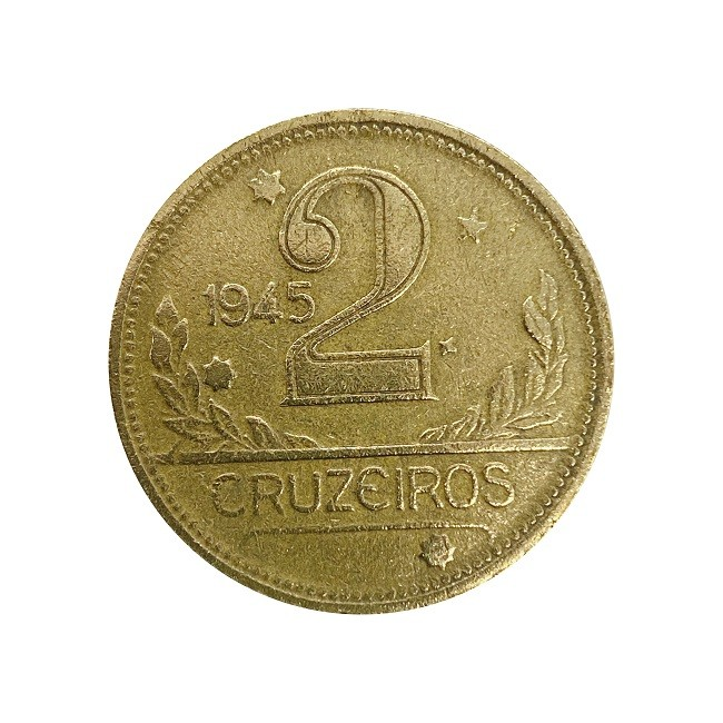Moeda Brasil 2 Cruzeiros 1945 MBC