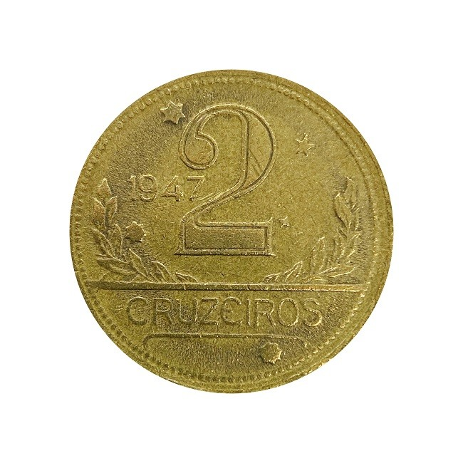 Moeda Brasil 2 Cruzeiros 1947 MBC