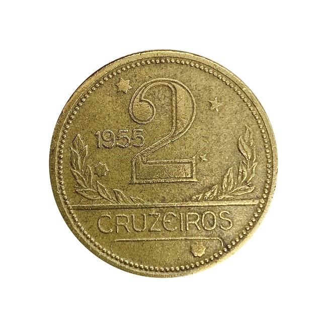 Moeda Brasil 2 Cruzeiros 1955 MBC