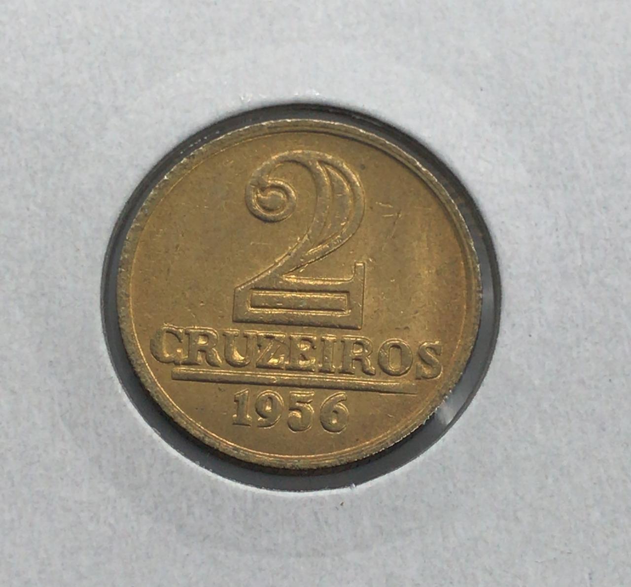 Moeda Brasil 2 Cruzeiros 1956 FC