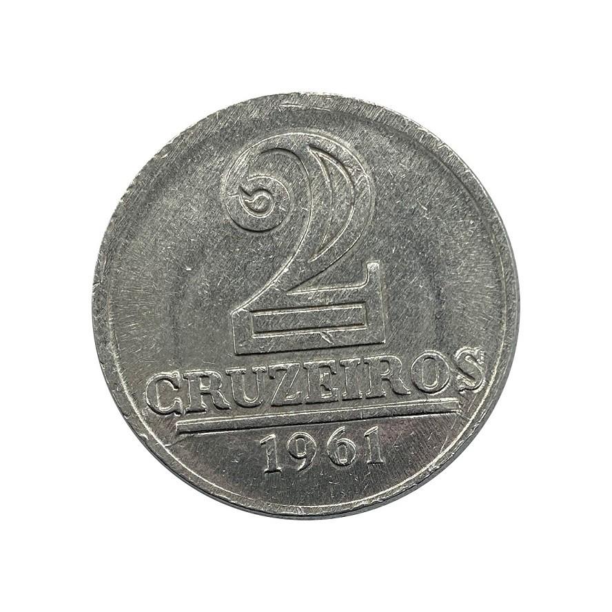 Moeda Brasil 2 Cruzeiros 1961 FC