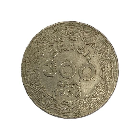 Moeda Brasil 300 Réis 1938 Getúlio Vargas MBC