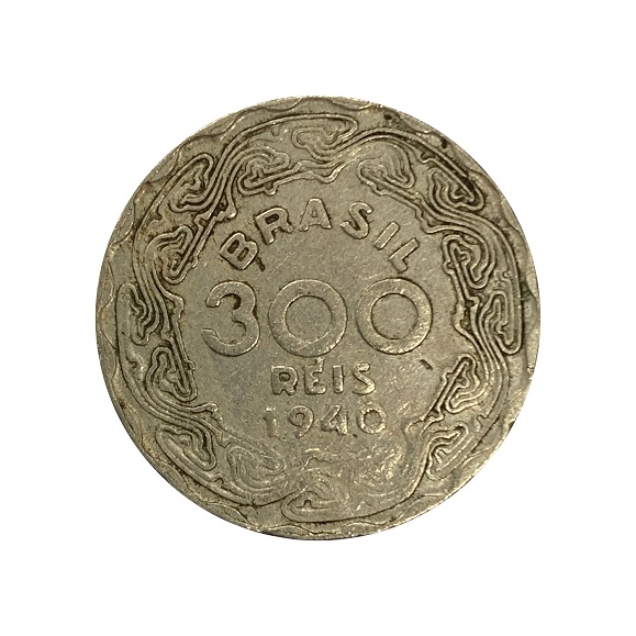 Moeda Brasil 300 Réis 1940 Getúlio Vargas MBC