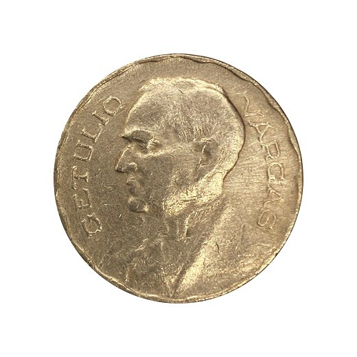 Moeda Brasil 300 Réis 1942 Getúlio Vargas MBC