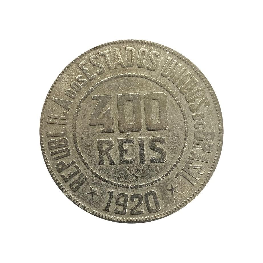 Moeda Brasil 400 Réis 1920 MBC