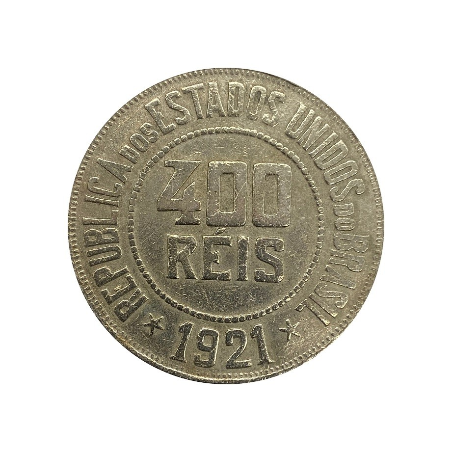 Moeda Brasil 400 Réis 1921 MBC